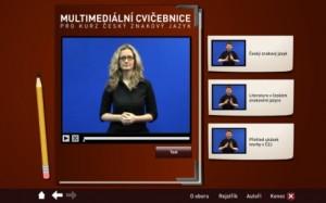 Multimediální cvičebnice pro předmět Český znakový jazyk